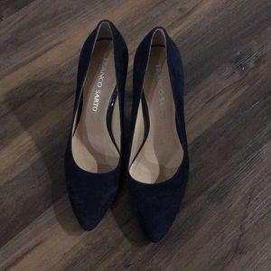 Franco Sarto Navy Heels